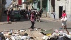 Habaneros opinan sobre la basura en las calles.