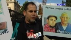 Exiliados cubanos exigen en la Embajada de Cuba en Washington la libertad del líder de UNPACU