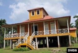 Vista de la casa natal los Castro en Birán, Holguín.