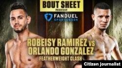 Folleto de la pelea de Robeisy Ramírez vs Orlando González