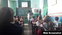 Escuela primaria en Cuba.