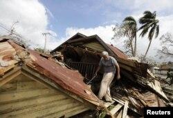 Daminificados del ciclón Sandy Cuba, October 26, 2012