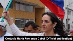 La senadora colombiana María Fernanda Cabal. (Archivo)