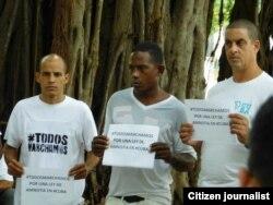 Reporta Cuba. Marchas por Derechos. Foto: Ángel Moya.