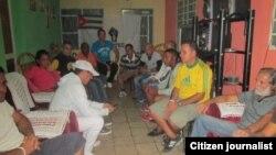 Reporta Cuba. Opositores emiten declaración. Foto: Ángel Escobedo.
