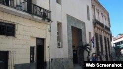 Antiguas oficinas del Banco Núñez en la calle Mercaderas de La Habana Vieja. (Captura de imagen/Segunda Zafra)