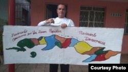 Jose Díaz Silva y su lucha por los derechos humanos en Cuba. (Archivo)