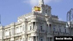 El Consulado General de España en La Habana, en una imagen tomada de su cuenta de Twitter.
