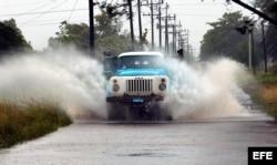 Imagen de una de las zonas inundadas en Cuba
