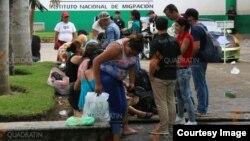 Esta sería la ola de inmigrantes cubanos más grande en la frontera sur de México. Foto: Cortesía de la agencia de noticias en Quadrantín, Chiapas.