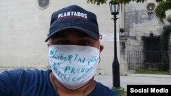 El periodista independiente Esteban Rodríguez, arrestado el 30 de abril en la protesta de la calle Obispo (VER VIDEO).