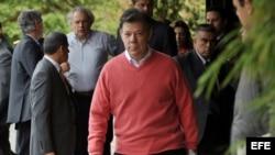 Foto de archivo del presidente de Colombia, Juan Manuel Santos.