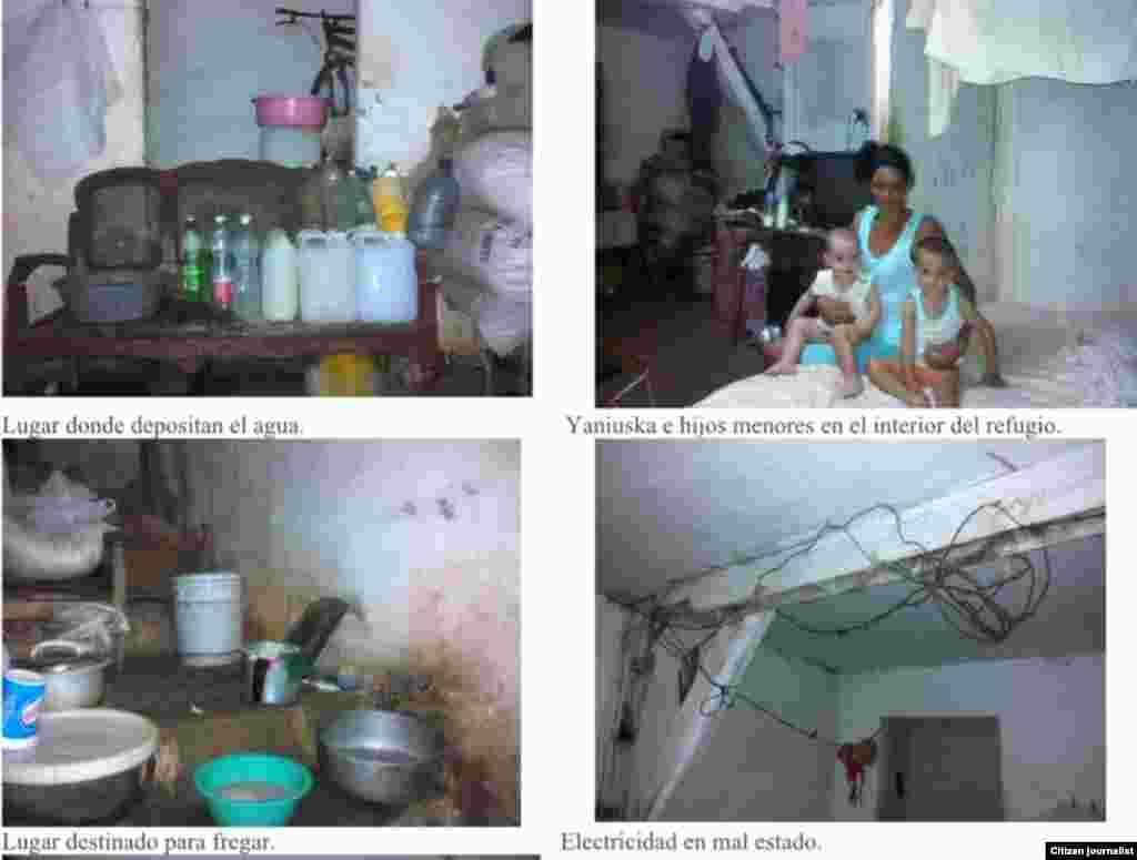 Reporta Cuba familia vive en refugio Pinar del Río