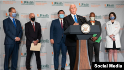 El vicepresidente Mike Pence en Miami.