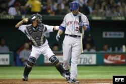 El lanzador Norimoto ponchó a Lucas Duda, jugador de cuadro de los Mets de Nueva York.