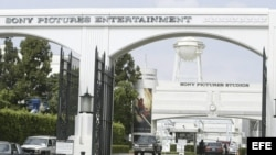 Acceso a los estudios de Sony Pictures en Culver City, California.