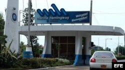 Main entrance to the Marina Hemingway tourist and residential complex, west from Havana, Thursday 26 June 2003. Police detained US citizen Anwar Wissa, accused of kidnapping his son Henry, 10, and daughter Victoria, 8, in the complex 25 June 2003. Accordi