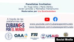 Moderadores e invitados al Webinar sobre COVID19 en Cuba
