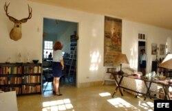 """Foto de archivo (06/01/07) del interior del museo """"Finca Vigía"""", antigua residencia habanera del fallecido escritor norteamericano Ernest Hemingway."""