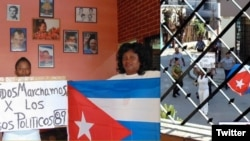 Berta Soler junto a otras Damas de Blanco (Foto: Angel Moya).