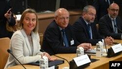 La alta representante de la Unión Europea Federica Mogherini asiste a la reunión en ONU del Grupo de Lima y el Grupo de Contacto Internacional sobre Venezuela.