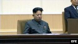 Kim Jong-un durante acto por segundo aniversario de su padre.