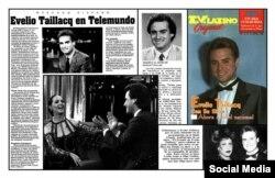 Muestras de la cobertura de prensa a los programas presentados por Taillacq en Telemundo.