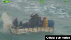 Embarcación en la que viajaban 8 inmigrantes cubanos entre ellos, dos cubanas embarazadas.