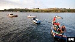 Pescadores en La Habana. Archivo.