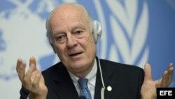 Staffan de Mistura, enviado especial de la ONU para Siria.