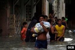 Afectaciones de Irma en La Habana. Foto Elio Delgado.
