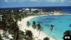 Una de las playas de la isla San Andrés.