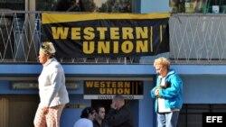 Oficina de Western Union. Archivo.