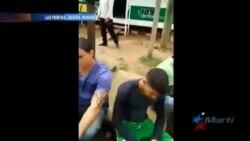 Inmigrantes cubanos varados en campamento militar de Panamá