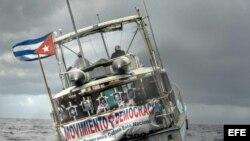 """Flotilla de exiliados cubanos conmemora hundimiento del remolcador """"13 de marzo"""". (Archivo)"""