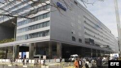 Vista general de las afueras del Hotel Hilton en Buenos Aires (Argentina) en donde se lleva a cabo la 125 Sesión del Comité Olímpico Internacional.