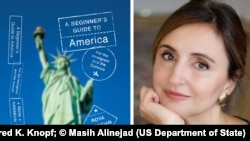 """La autora Roya Hakakian escribe sobre su experiencia como recién llegada en su reciente libro """"A Beginner's Guide to America"""" (Una guía de Estados Unidos para principiantes) (Foto cedida por Alfred K. Knopf; © Masih Alinejad)"""