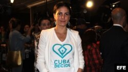 """La disidente cubana Rosa María Paya, hija del fallecido Oswaldo Payá, agradeció que Trump se proponga """"acabar con los privilegios de los responsables de la represión en Cuba""""."""