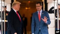 El presidente Donald Trump recibe al presidente encargado de Venezuela, Juan Guaidó, en la Casa Blanca, el miércoles 5 de febrero de 2020, en Washington DC.
