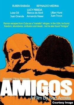 """Cartel de la película """"Amigos"""" de Iván Acosta."""