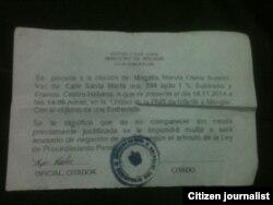 Reporta Cuba Citación Dama de Blanco.