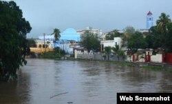 Tormenta Alberto deja inundaciones en Sancti Spíritus. (Foto: Escambray)
