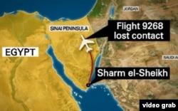 El vuelo de la aerolínea rusa Metrojet (Kogalimavia) cayó a tierra a los 25 minutos de despegar del balneario egipcio de Sharm al Sheij
