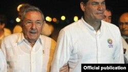 Intimos: Raúl Castro y Rafael Correa