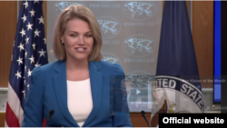La vocera del Departamento de Estado de EE.UU, Heather Nauert