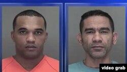 Mugshots de Orlando Nazario y Juan Mesa Díaz, clonadores cubanos de tarjetas de crédito detenidos en Wisconsin.