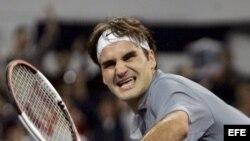 Fotografía de archivo del tenista suizo Roger Federer. EFE/Michael Reynolds.