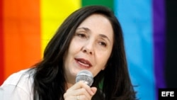 La hija del presidente cubano Raúl Castro y directora de Cenesex, Mariela Castro Espín.