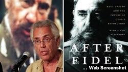 Brian Latell junto a la portada de uno de sus libros sobre Fidel Castro.
