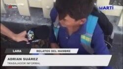 Niños venezolanos buscan comida en las calles